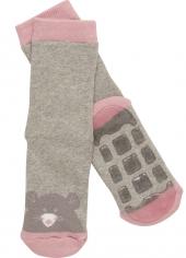 MALA Babysocken mit Anti-Rutsch-Sohle (ABS), Maus/ pink