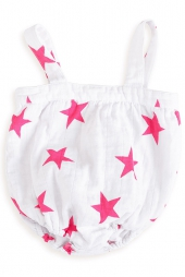 Aden Anais Strampler, 3-6 Monate, Shocking Pink - Medium Star