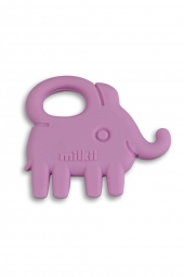 Milkii Silikon Beissring Elefant, Lilac