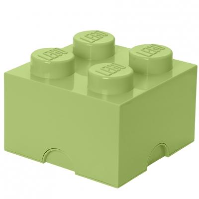 LEGO Brick 4 Aufbewahrungsbox, yellowish green