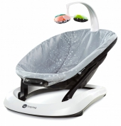 4moms bounceaRoo Babywippe Plush Silver
