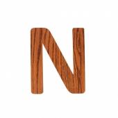 Sebra Deko-Buchstaben N, Natur