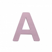 Sebra Deko-Buchstaben A, Dusty Rose