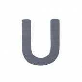 Sebra Deko-Buchstaben U, Grau
