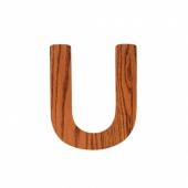 Sebra Deko-Buchstaben U, Natur