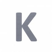 Sebra Deko-Buchstaben K, Grau