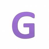 Sebra Deko-Buchstaben G, Lilac