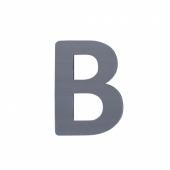 Sebra Deko-Buchstaben B, Grau