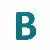 Sebra Deko-Buchstaben B, Petrol