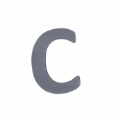 Sebra Deko-Buchstaben C, Grau