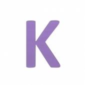 Sebra Deko-Buchstaben K, Lilac