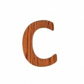 Sebra Deko-Buchstaben C, Natur