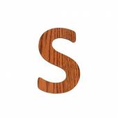 Sebra Deko-Buchstaben S, Natur