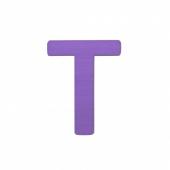 Sebra Deko-Buchstaben T, Lilac