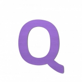 Sebra Deko-Buchstaben Q, Lilac