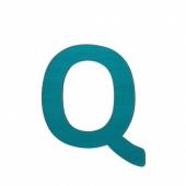 Sebra Deko-Buchstaben Q, Petrol