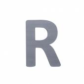 Sebra Deko-Buchstaben R, Grau
