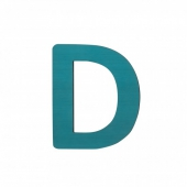 Sebra Deko-Buchstaben D, Petrol