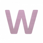 Sebra Deko-Buchstaben W, Dusty Rose