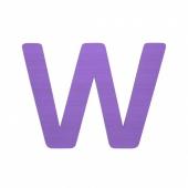Sebra Deko-Buchstaben W, Lilac