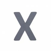 Sebra Deko-Buchstaben X, Grau