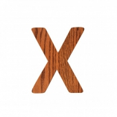 Sebra Deko-Buchstaben X, Natur