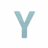 Sebra Deko-Buchstaben Y, Dusty Mint