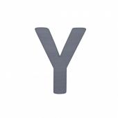 Sebra Deko-Buchstaben Y, Grau