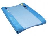 Snoozebaby Bezug für Wickelunterlage, Dolphin Blue