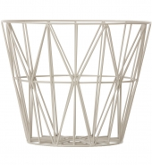 Ferm Living Wire Basket - Grau, gross