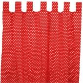 Sugarapple Vorhang 2er Pack, Pünktchen Fliegenpilz 250 cm