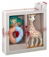 Geschenkset Sophie La Giraffe, Giraffe + Rassel