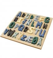 Sebra Hölzernes Puzzle ABC, Junge