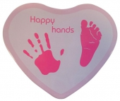 Hand & Fußabdruckset Happy Hands - Herzform, pink