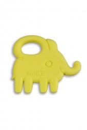 Milkii Silikon Beissring Elefant, Skinny Yellow