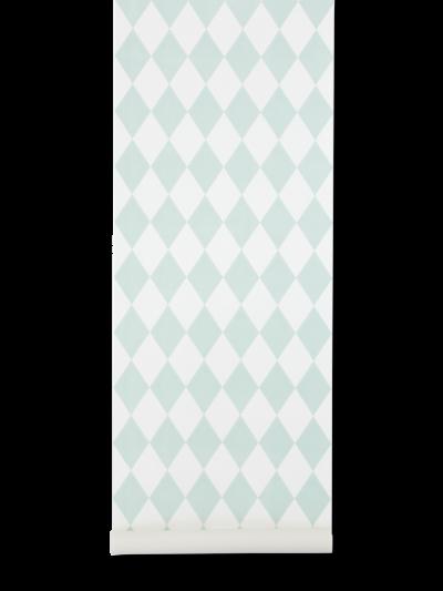 Ferm Living Tapeten Harlequin, Mint