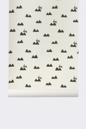 Ferm Living Tapeten - Rabbit, Off-White