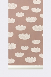 Ferm Living Tapeten - Clouds Rose
