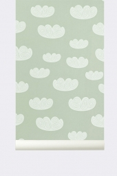 Ferm Living Tapeten - Clouds Mint
