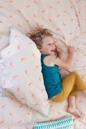 MIMIlou Kinderbettwäsche gross (140x200), Vögel/ rosa