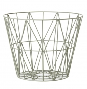 Ferm Living Wire Basket - Dusty Green, mittel