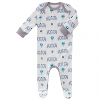 Fresk Babypyjama Bio-Baumwolle, Elefant Blue