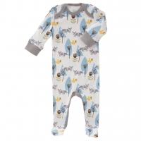 Fresk Babypyjama Bio-Baumwolle, mit Füsschen, Blaue Füchse