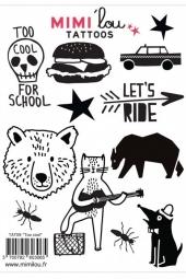 MIMIlou Kinder-Tattoos, Too Cool For School