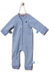 Snoozebaby Strampler, Blue Melange