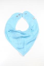 Milkii Musselin-Dreieckstuch Halstuch, Aqua Blue