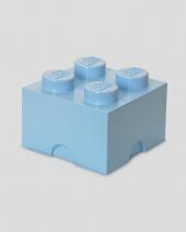 LEGO Storage Brick 4, Aufbewahrungsbox, hellblau
