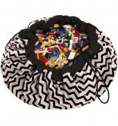 Play&Go Spielzeugtasche, Chevron Black