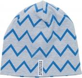 Geggamoja Mütze, Zick Zack, Grau, 2-6 Monate