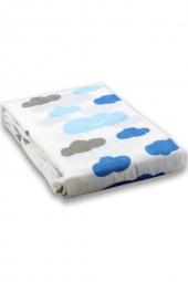 milkii Swaddle Mulltuch, 120 x 120 cm, Happy Cloud (Wolken), 100% Bambus